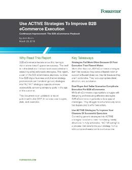 Use Active Strategies to Improve B2B eCommerce Execution