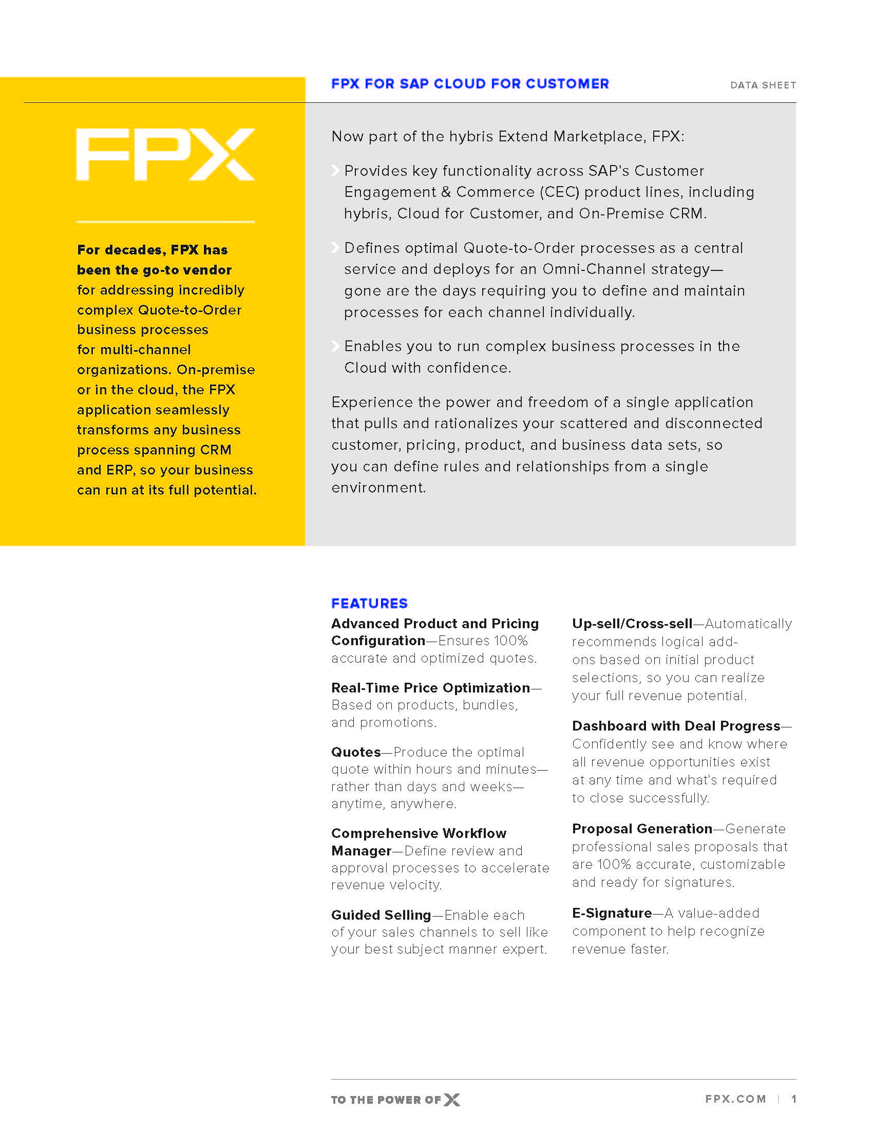 Download the FPX for SAP C4C data sheet