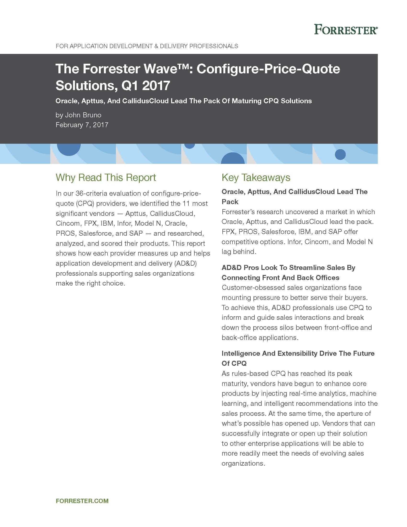 Download the Forrester CPQ Wave Report