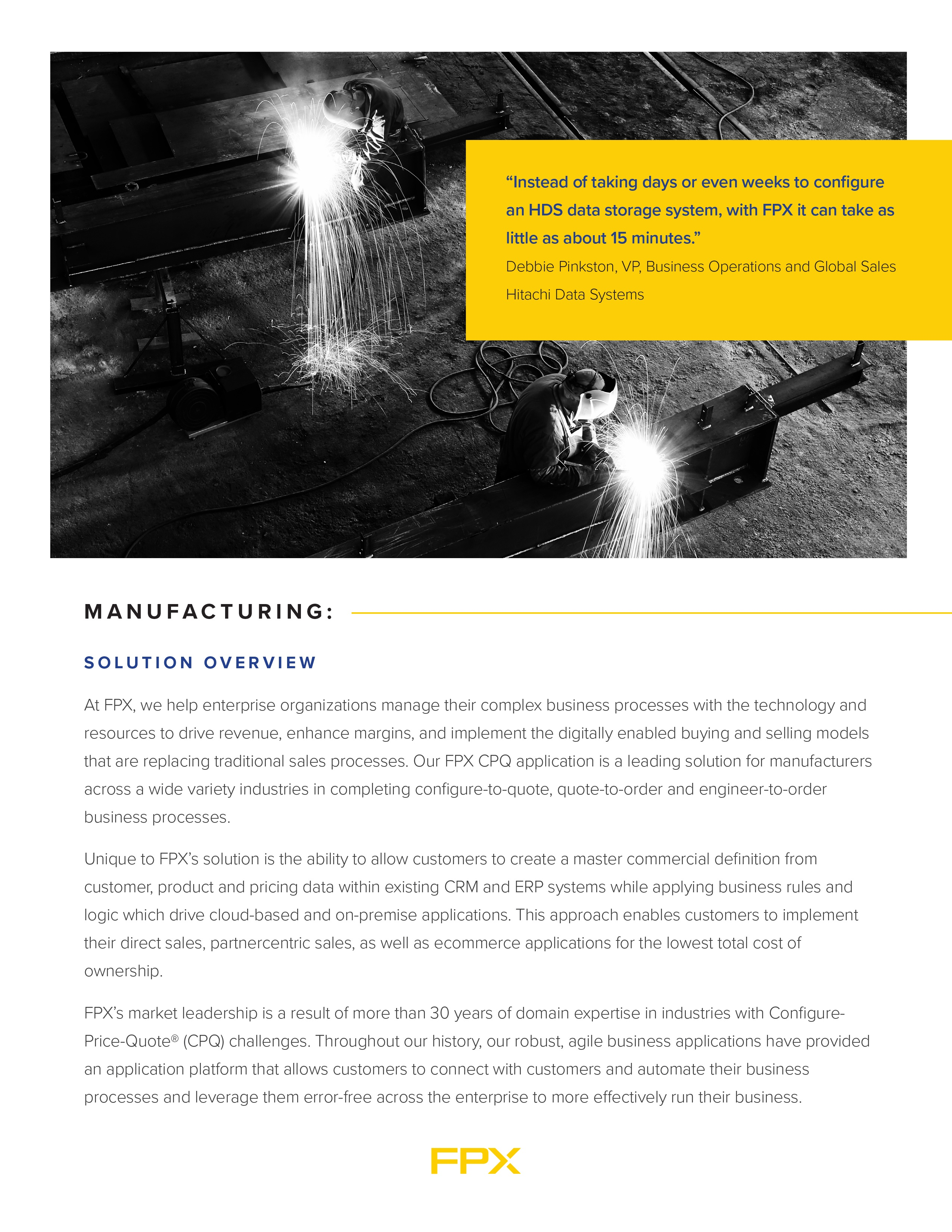 Download the CPQ for Manufacturing data sheet