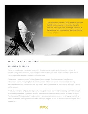 Download the CPQ for Telecommunications data sheet