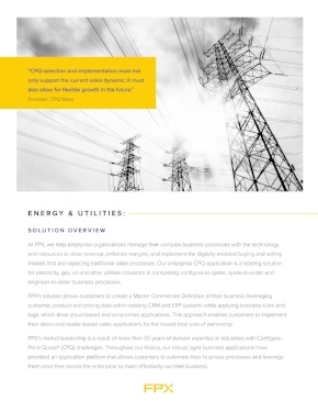 Download the CPQ for Energy and Utilities data sheet