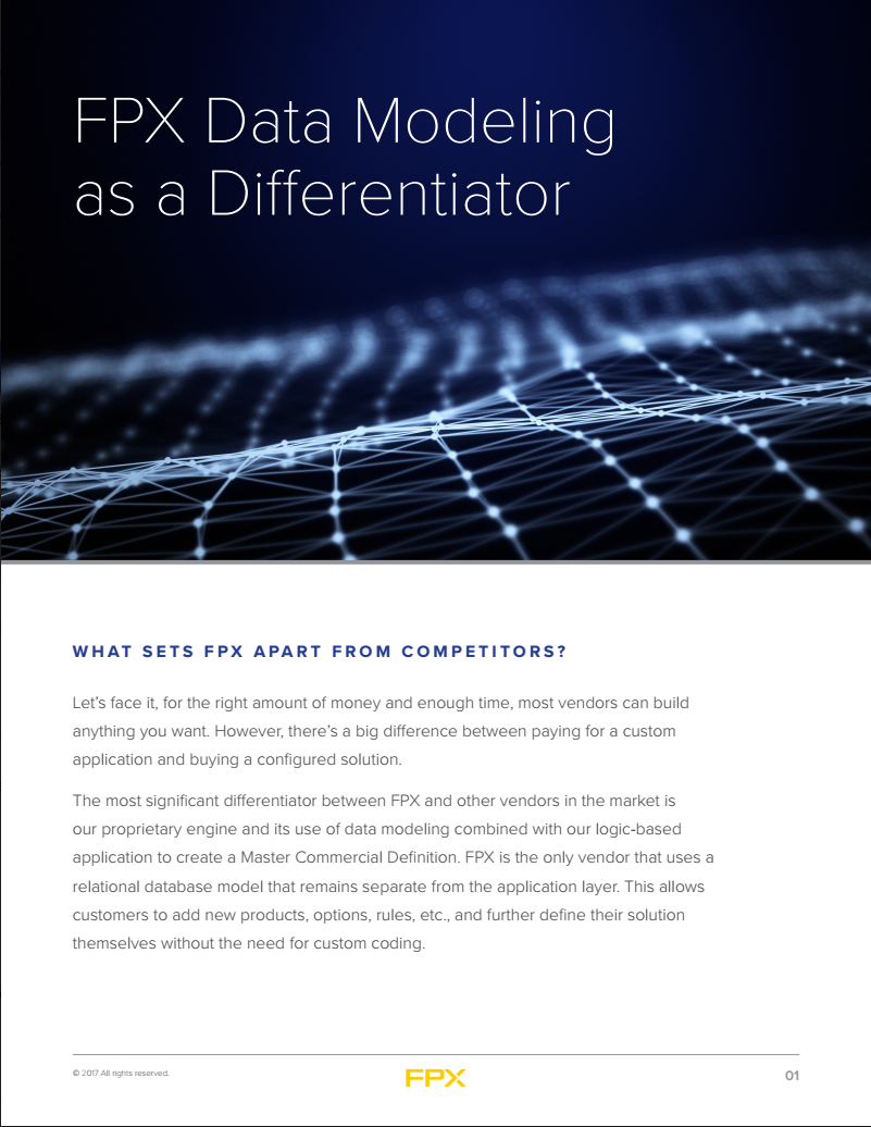 Download FPX Data Modeling as a Differentiator white paper